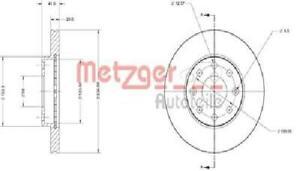 Original metzger Brake Disc 6110257 For Chevrolet Daewoo