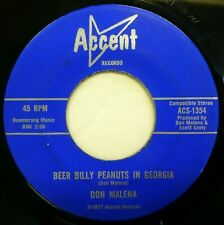 DON MALENA 45 Beer Billy Peanuts in Georgia ~ Love Symptoms SOUTHERN ROCK lc518