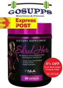 NLA for Her Shred Her 60 Caps Ultra Concentrated Thermogenic Fat Burner Women