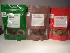 Duck Jerky / Salmon & Rice / Beef Liver Dog Treats 3 Varieties 4 oz. Mix & Match