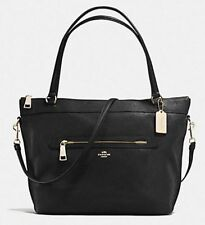 Coach F 54687 Pebble Leather Tyler Tote Hand Shoulder Bag Black NWT