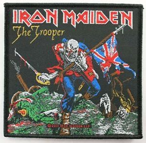 Iron Maiden The Trooper à Coudre Chiffon Patch 100mm x 95mm ( Rz )