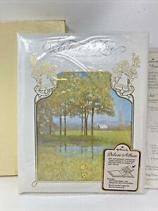 """Hallmark Vintage """"A TIME TO LOVE"""" Wedding Keepsake Album Book In Original Box"""