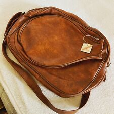 VINTAGE Addoin T-1246 brown leather tennis bag NWT