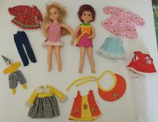 Vintage Tutti & Chris Dolls & Clothes Lot Mattel Barbie Family 1969/1970