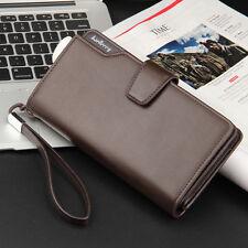Fashion Men's Long Zipper Leather Wallet ID Card Holder Clutch Business Purse US