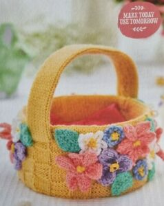 Toy Knitting Pattern. Floral Basket By Sachiyo Ishii