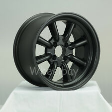 4 PCS ROTA WHEEL RKR 15X8 4X100 0 MAGNESIUM  BLACK