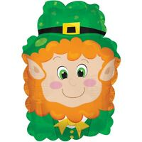 ST PATRICK'S DAY MINI SHAPE LEPRECHAUN FOIL BALLOON IRISH PARTY DECORATION  23CM
