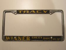 Tracy Winner Chevy Buick Olds Dealership License Plate Frame Metal Tag Holder CA