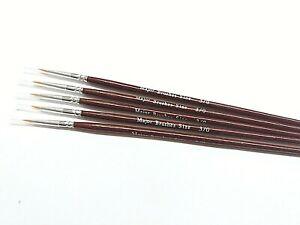 Major Brushes Extra Fine Detail Paint Brush Set of 5 Size 000 for Model Making