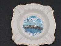 SS Volendam Ship Ashtray or Trinket Dish ~ 4 3/4 inches