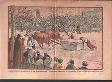 Traction pierre idi dema ou idi probak  BOEUFS BILBAO  ILLUSTRATION 1934