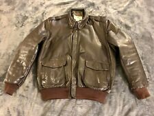 LL Bean Flying Tiger Leather A-2 Bomber Jacket 42L