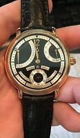 Maurice Lacroix Rose Gold 18K Retrograde Calendrier Watch MP6368 Black Dial