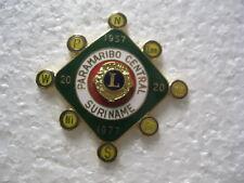Lions Club Pin 1957 1977 Paramaribo Central Suriname 20 Years International
