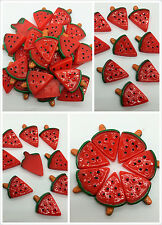 10pcs Red watermelon embellishment Resin Flatback ScrapbookIng for phone/craft1