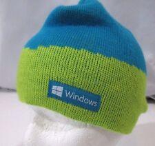 Microsoft Windows Promo Blue Lime Green Winter Knit Ski Snowboard Beanie Hat Cap