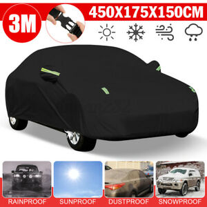 Full Car Cover Sedan Outdoor Scratch Sun UV Rain Snow Dust Waterproof Resistant