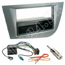 Seat Leon 2-DIN Radioblende+Fach grau Quadlock Adapterkabel Fakra Antenne Stecke