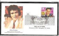 US Scott # 2721 Elvis Presley FDC. Fleetwood Cachet. 4