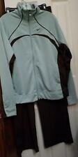 Nike Ladies Tracksuit Top XL Bottom Large Brown/Baby Blue