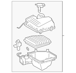 Genuine Toyota Air Cleaner Assembly 17700-AD016