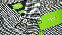 NWT $125 Hugo Boss Blue Shirt LS Mens M L XL Brizzi 50329928 410 Slim Fit NEW