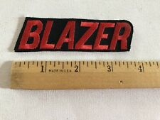 Chevrolet Patch Embroidered , Vintage Rare Blazer Patch Awesome