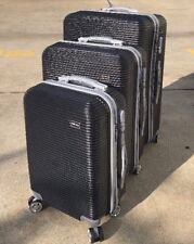 3 Pcs Luggage Set Strong ABS Spinner Wheels Suitcase Light Weight CodeLock