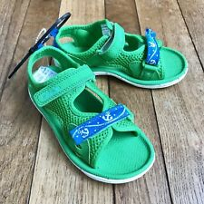 Boys Clarks Boys Sandals Size 10 M Water Shoes Green Synthetic Washable Piranha