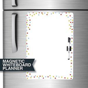 Large Whiteboard Magnetic Planner for fridge. Includes Marker & Magnetic Clip.