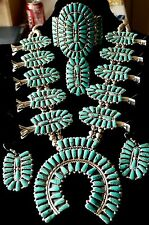 NWOT TURQUOISE SET=NECKLACE, BRACELET, RING, EARRINGS WELL MADE STERLING SIGNED