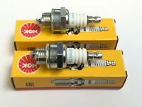 2 x NGK BPMR7A SPARK PLUG LAWNMOWER CHAINSAW TRACTOR STRIMMER