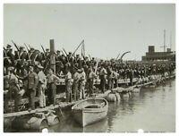 Antique military WW1 RPPC postcard Pontoon Bridge Built By The Royal Engineers