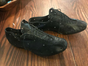 Cinelli leather cycling shoes with M71 cleats in ex. used cond. Vintage Eroica