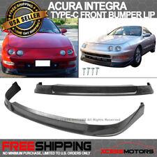 For 94-97 Acura Integra Type-C Black Front Bumper Lip Spoiler PU