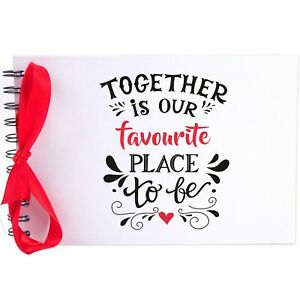 Ribbon, Together Favourite Place, Photo Album, Scrapbook, Blank White Pages, A5