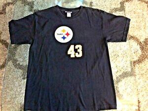 Pittsburgh Steelers Troy Polamalu Black Shirt Youth Kids Extra Large XL Reebok