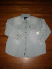 NWT ROCAWEAR CLASSIC FIT L/S DENIM JEAN DRESS SHIRT SZ: 3XB 3XL 3X XXXL