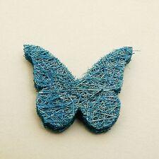 Papillon en abaca x 24  turquoise. Décoration de mariage
