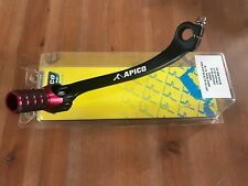 HONDA  CRF 450 X  2005-2017 APICO ELITE FORGED GEAR PEDAL LEVER RED TIP