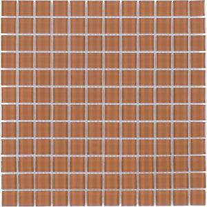 Modern Uniform Squares Brown Glass Mosaic Tile Backsplash Kitchen Wall MTO0362