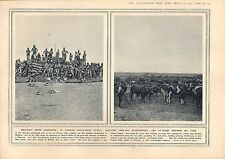 1915 WWI PRINT GERMAN SOUTH-WEST AFRICA SAND-BAG BLOCKHOUSES OX-TEAMS BIG-GUNS