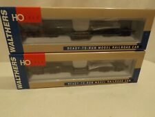 (2) HO Walthers DODX #39853 four truck depressed center flat cars, NIB