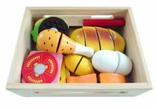 HOLZ LEBENSMITTEL SPIELSET Essen Kaufladen Kaufmannsladen Spielküche Spielzeug