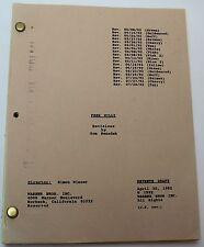 Free Willy * 1992 Original Movie Script * Killer Whale Family Adventure Drama