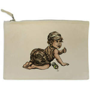 'Thumbs Up Toddler' Canvas Clutch Bag / Accessory Case (CL00019724)