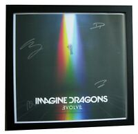IMAGINE DRAGONS+SIGNED+FRAMED+EVOLVE+LITHO=100% GENUINE+PROOF+FAST GLOBAL SHIP