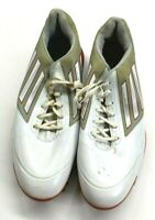 Adidas Adizeros One Men's 9 Red & White Spike Golf Cleat Shoes